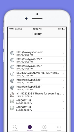 QR Code Reader Barcode Scanner Screenshot