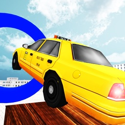 Modern Taxi Extreme Stunts Simulator 3D - Real Duty Driver Taxi Crazy Stunts & Parking Test Game