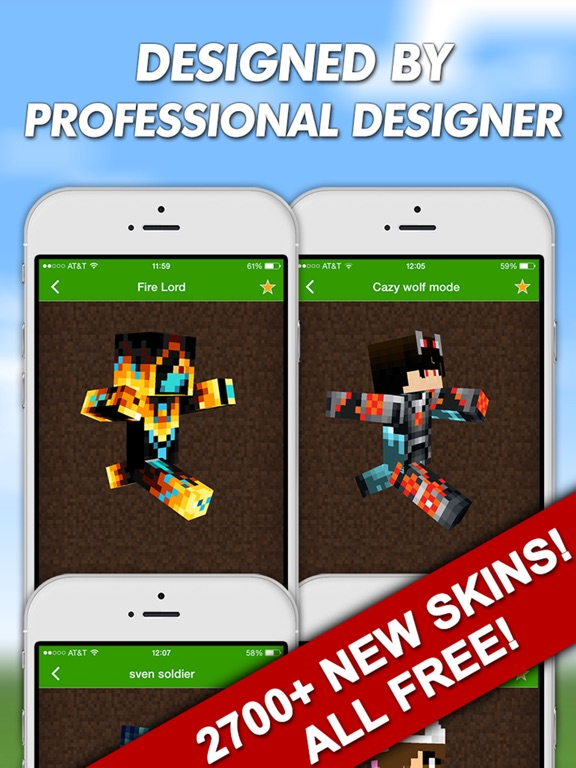 New Skins Pro For Minecraft PE Pocket Edition Minecraft PC App - Skins para minecraft pc 1 11