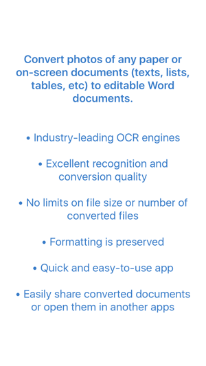 ‎Image to Word Converter - OCR - Convert photos to Word documents Screenshot