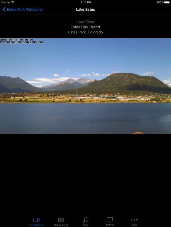 Estes Park Webcams for iPad