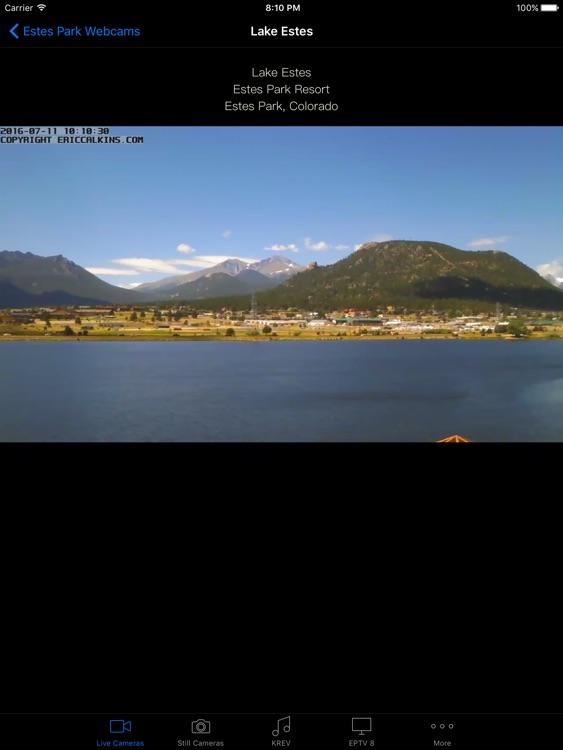Estes Park Webcams for iPad
