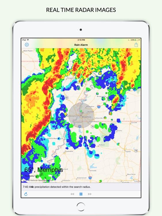 Rain Alarm XL - Rain Alerts and Live Doppler Radar Images