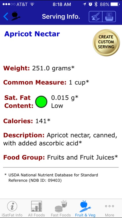 iSatFat - iNutrient: Saturated Fat screenshot-3