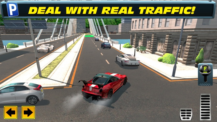 Trailer Truck Parking with Real City Traffic Car Driving Sim Screenshot