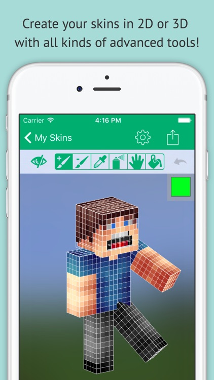Skin Editor: Minecraft Creator Edition screenshot-1