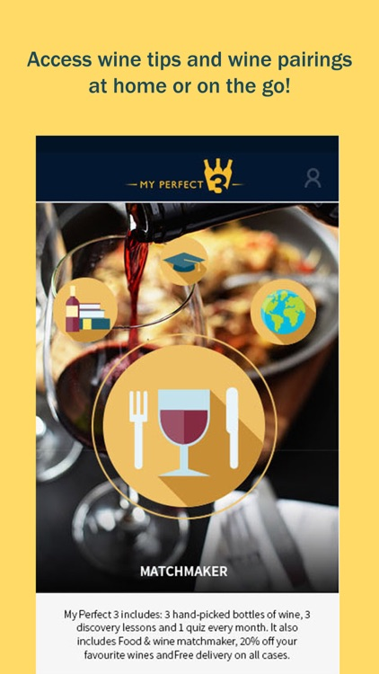 My Perfect 3: Wine pairing & discovery guide