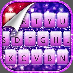 Glitter Keyboard Extension – Key Font.s Change.r & Glow.ing Background Theme.s