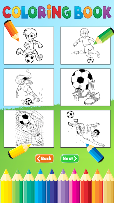 Soccer Football Coloring Book - Sport drawing and painting