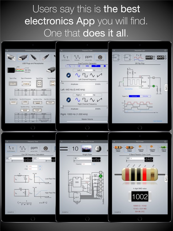 Electronics Engineering ToolKit PRO for iPad screenshot-3