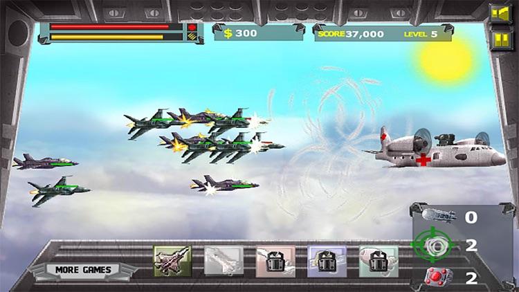 Air Attack War:Strike Fighters  - Sky Tower Defense Game screenshot-3