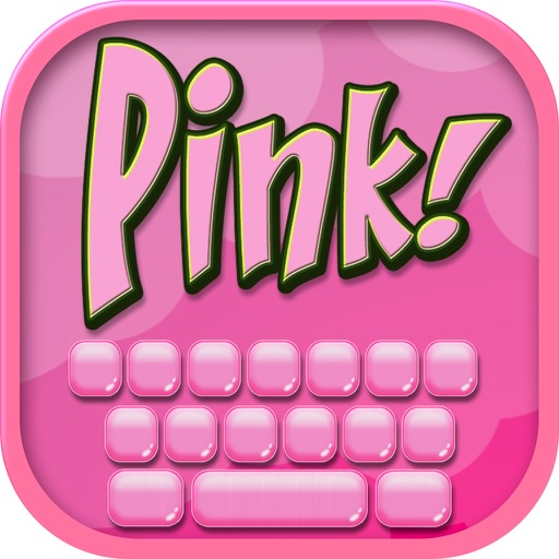Pink Keyboard Design – Cute Keyboards for Girls With Glitter Backgrounds and Fancy Fonts iOS App