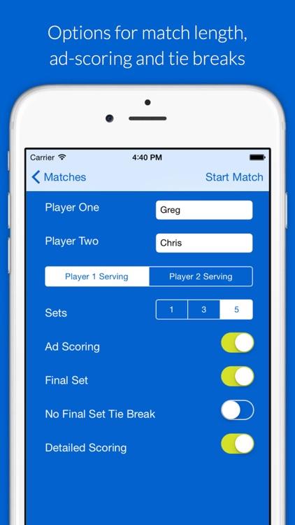 MatchTrack: Your Tennis Scorekeeper screenshot-4