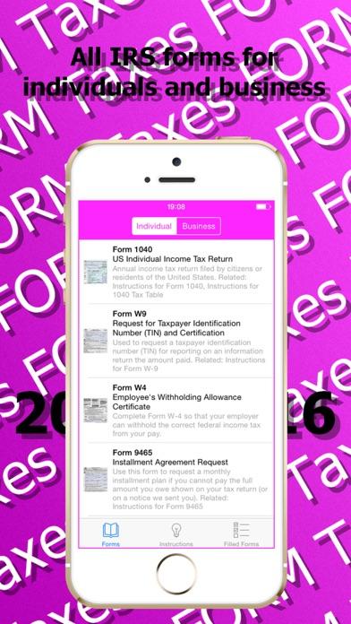 TAX IRS PDF Forms. USA