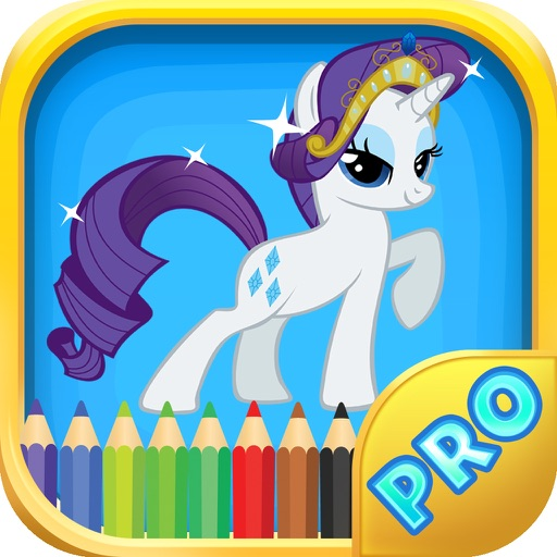 Pony Coloring Games for Girls - My Cute Pony Coloring Book for Little Kids and Toddler iOS App