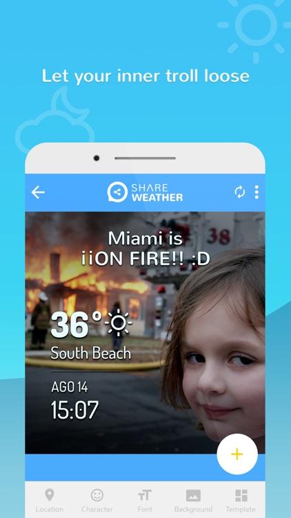 Share Weather - Create Forecast Memes screenshot-4