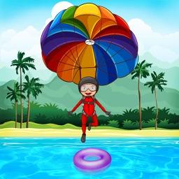 Parachute jump – A sky diving air stunt game