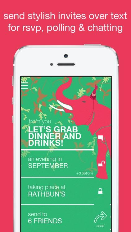 Fête: Invitations & RSVP via Text screenshot-0