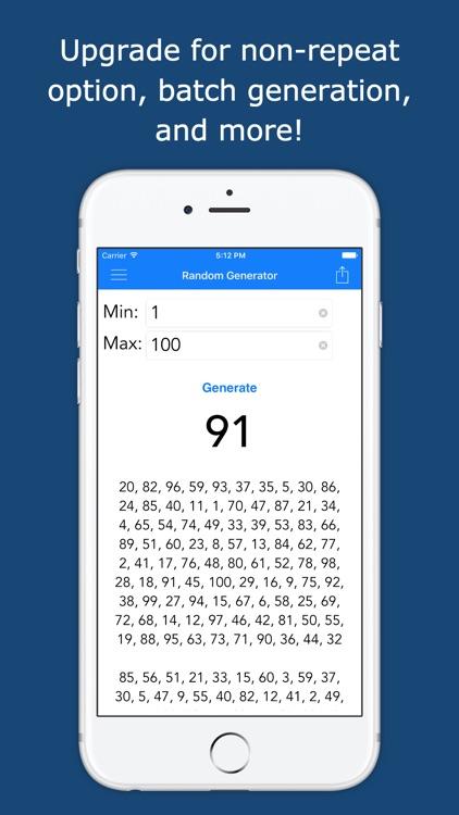 Random NumGenerator Lite: A Full-Featured Random Number Generator screenshot-3