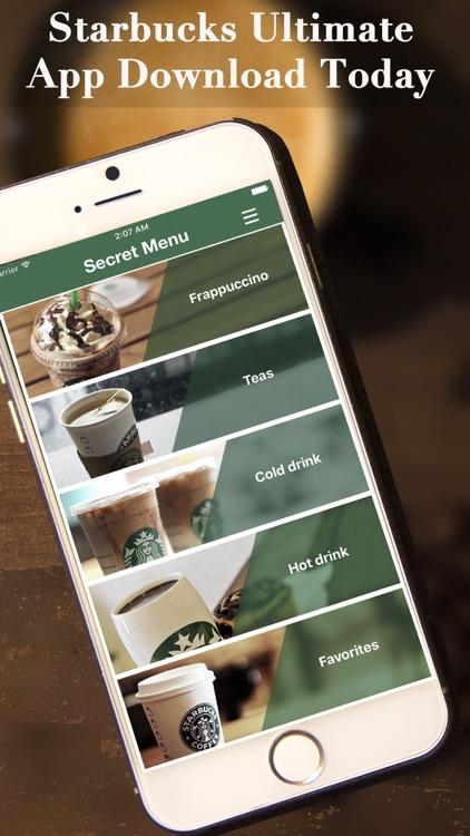 eXpresso Secret Menu for Starbucks - Coffee, Frappuccino, Macchiato, Tea, Cold & Hot Drinks Recipes screenshot-4