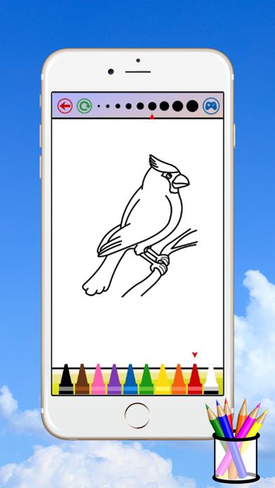 子供のための鳥のぬりえのスクリーンショット3