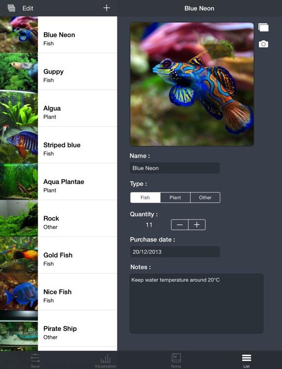 Aquarii - Easily track and manage your fishtank screenshot-4