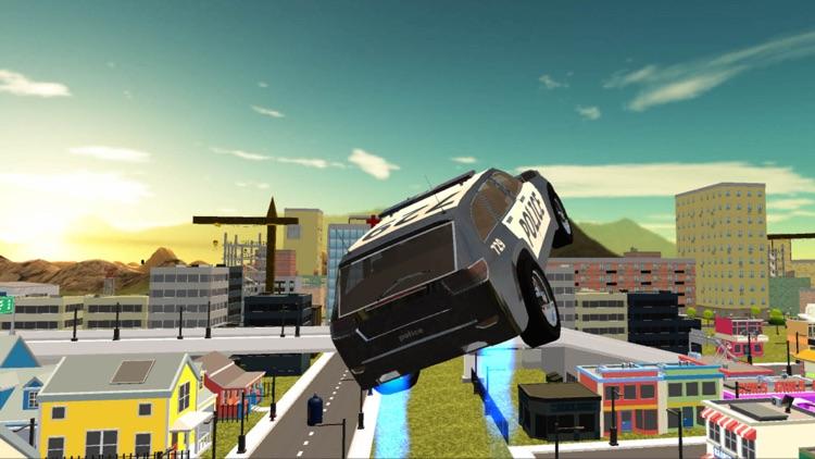 Flying Police Car Simulator 2016 screenshot-3