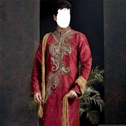 Men Traditional Suit Photo Montage