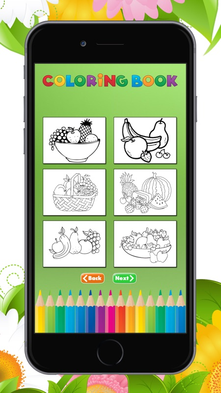 The Fruit Coloring Book For Children Learn To Color An Apple Banana Orange And More Online Game Hack And Cheat Gehack Com