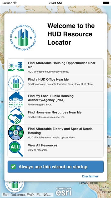 HUD Resource Locator