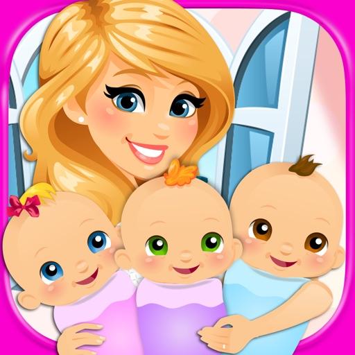 My Newborn Baby Triplets - Kids Pregnancy & Hospital Maternity Games