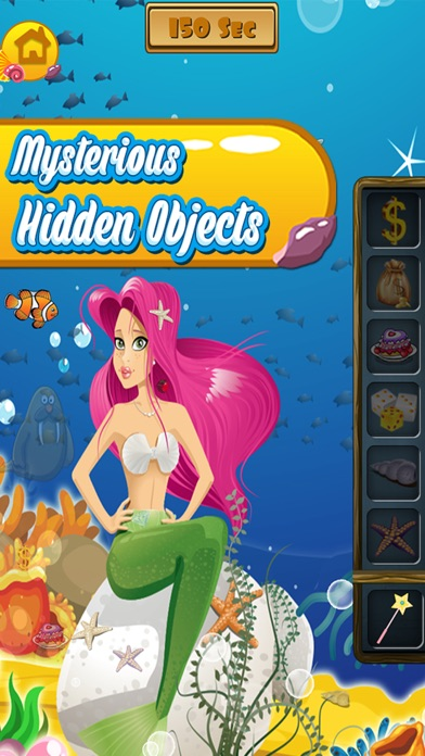 Enchanted Mermaid Dressup Mystery Hidden Objects and Painting - Game for kids toddlers and boys screenshot four