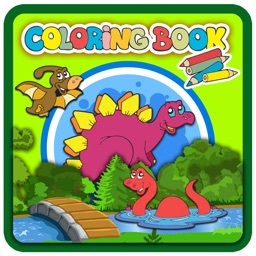 Coloring books (Dinosaur) : Coloring Pages & Learning Educational Games For Kids Free!