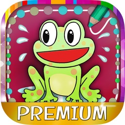 Play paint and connect dots– educative coloring book with drawings for kids and children Premium