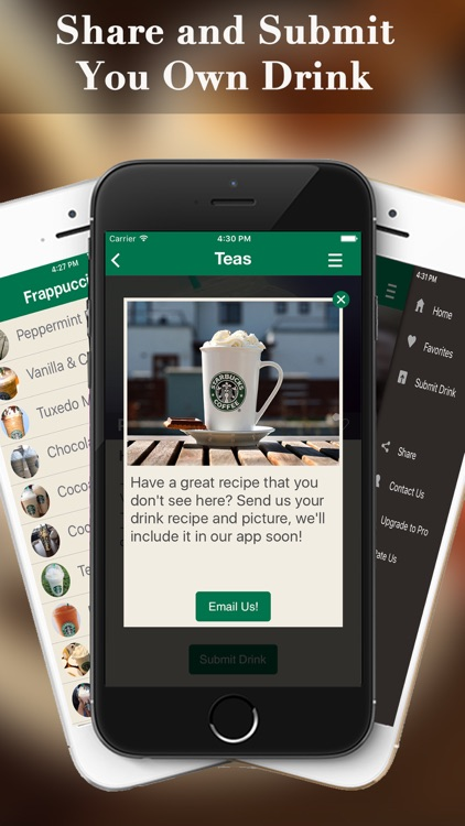 eXpresso Secret Menu for Starbucks - Coffee, Frappuccino, Macchiato, Tea, Cold & Hot Drinks Recipes screenshot-3