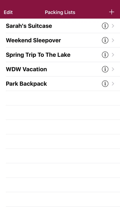 Vacation Packing List screenshot-0