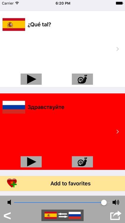 Spanish / Russian Talking Phrasebook Translator Dictionary - Multiphrasebook