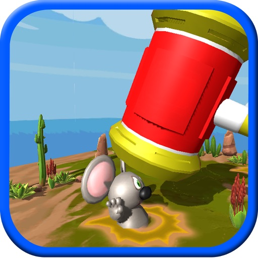 Punch Mouse Hole: Hit rat with hammer