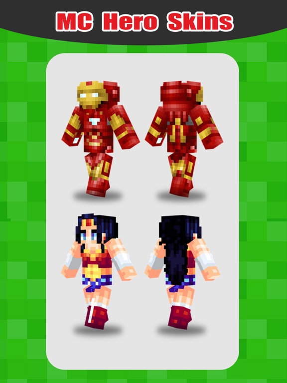 SuperHero Skins Pro Export Skin For MineCraft Pocket Edition App - Skins para minecraft pe red
