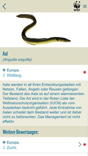 WWF-Fischratgeber Screenshot