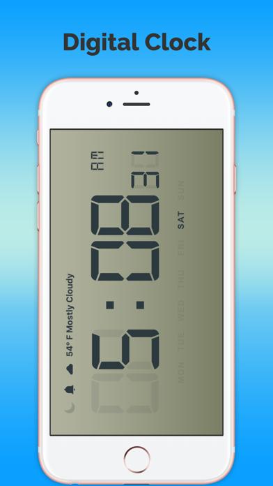 タイムクロック - 天気予報無料のおすすめ画像1