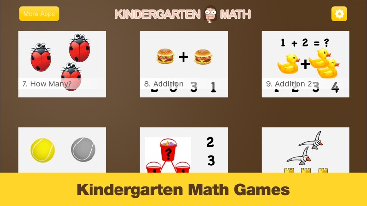Kindergarten Math - Games for Kids in Pr-K and Preschool Learning First Numbers, Addition, and Subtraction