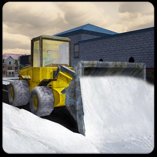 Real Snow Plow Truck Simulator 3D - работать тяжелая экскаваторщика журавля Очистить ледовой дороге