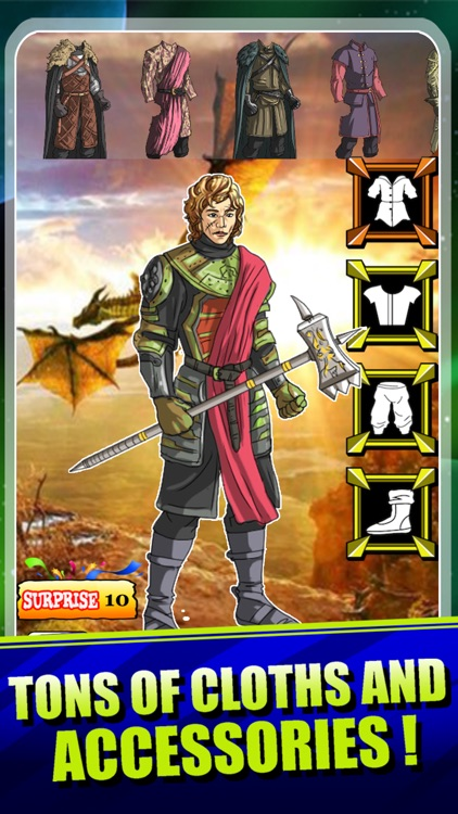 Create Your Own King Warrior - Fantasy Dragons Crows Winds of Winter for Game of Thrones Edition