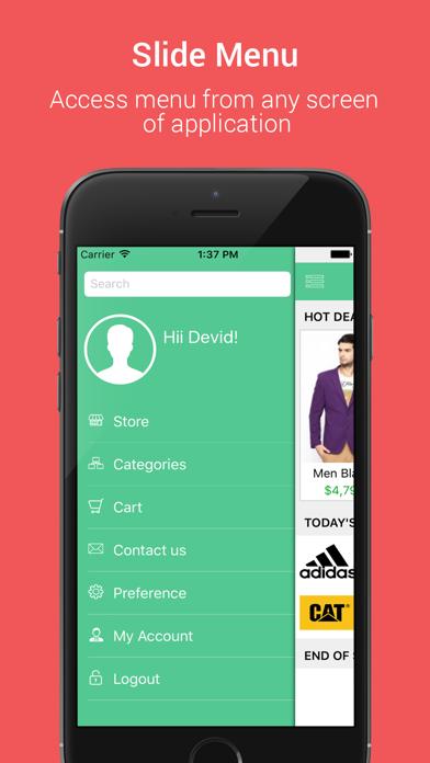 Native Opencart App screenshot two