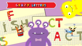 AZ Learn Alphabet for Toddlers. Drag and drop the funny and crazy animated letters!