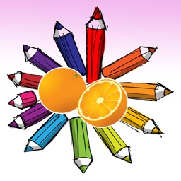 Fruits Coloring Book - digital drawing and paint for kids