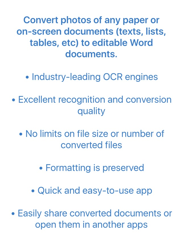 Image to Word Converter - OCR - Convert photos to Word documents on