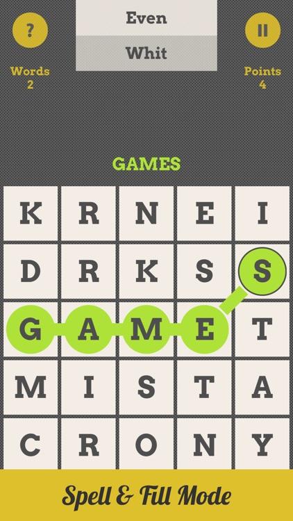 Spell Grid : Swipe Letters, Spell Words
