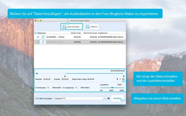 Free Any Ringtone Maker - aus Musik/MP3 erstellen Screenshot
